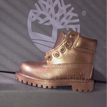 Bronze Metallic Timberlands
