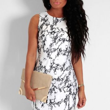 Electrico Black & White Print Wrap Skater Dress | Pink Boutique