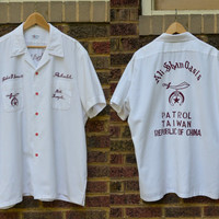 Vintage Shriner Nile Temple Rockabilly Masonic Bowling League Shirt