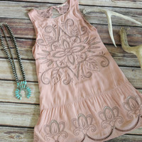 Rose Drop Dress with Embroidery and Lace
