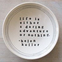 "5"" dish helen keller. IN STOCK"