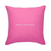 dream a little dream decorative pillow
