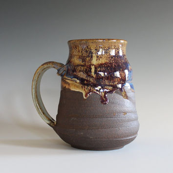 LARGE Coffee Mug, 21 oz, unique coffee mug, handmade cup, handthrown mug, stoneware mug, wheel thrown pottery mug, ceramics and pottery