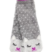 Shea-Infused Lounge Socks Cat