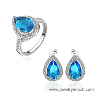 Fashion Different Styles Large Sapphire French Hot Earring Ring
