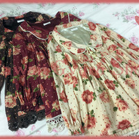 Liz Lisa Portrait Collar Floral Silky Chiffon Dress (NwoT) from Kawaii Gyaru Shop