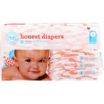 The Honest Company Diapers - Giraffes - Size 1 - Babies 8 to 14 lbs - 44 count - 1 each