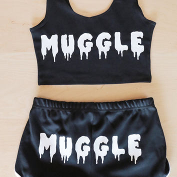 MUGGLE Shorts - Made in USA - Inspired by Harry Potter