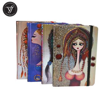 Victoria's Journals CB Womens Hard Cover Dotted Bullet Journal Notebook Diary Bujo