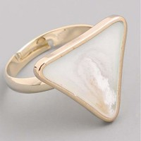 Triangle Stone Adjustable Ring