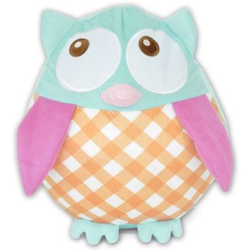 Better Homes and Gardens Kids Plaid Owl Pillow Multicolor Standard