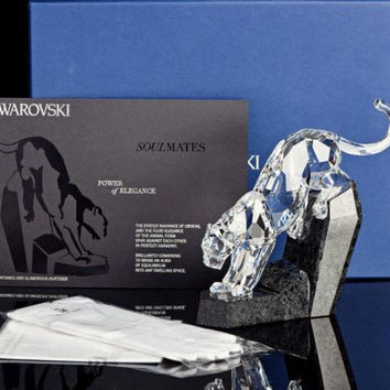 Swarovski Crystal Animal Figurine Panther #5155678 Box New