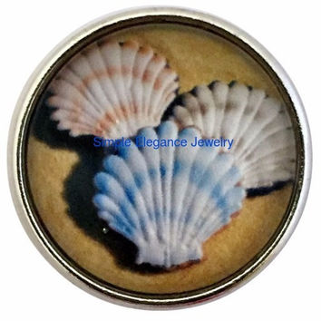 Sea Shell Snap Charm 20mm for Snap Jewelry