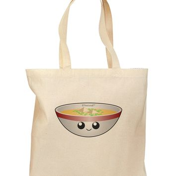 Cute Miso Soup Bowl Grocery Tote Bag by TooLoud