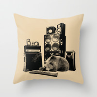 Bear Lullaby Throw Pillow by Budi Satria Kwan