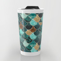 REALLY MERMAID Travel Mug by Monika Strigel