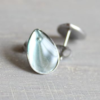 Teardrop earrings - aqua
