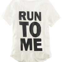 ROMWE | Run to Me Print White T-shirt, The Latest Street Fashion