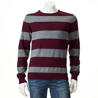SONOMA life + style Classic-Fit Striped Fine Gauge Sweater