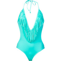 L Space Fringe Benefits Stardust One-Piece Swim Suit - Women's Sea Foam, XS