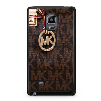 Michael Kors Logo Brown iPhone 5C Samsung Galaxy Note Edge Case