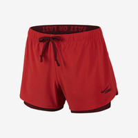 The Nike Lacrosse Fast Or Last 2-in-1 Women's Training Shorts.