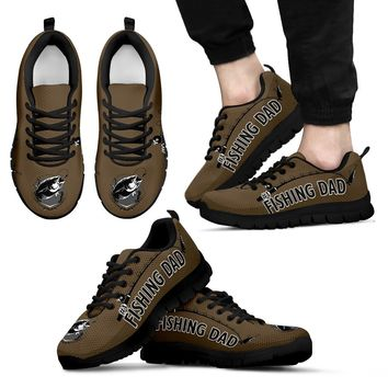 Awesome No. 1 Fishing Dad Sneakers Father's Day Gift