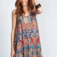 Laura Printed Swing Dress
