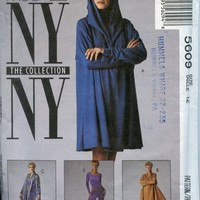 Vintage McCalls Pattern 5609 NY NY Series Cat Jump Suit Flared Tunic Jacket Hood