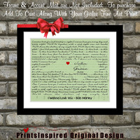 Custom Wedding Gift First Dance Lyrics: Anniversary Gift Ideas Love State Map ANY Song i wanna love you Bob Marley Lyric Gift Wall Art Print