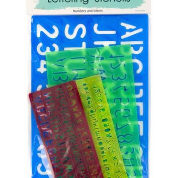 Number & Letter Stencils Set ( Case of 96 )