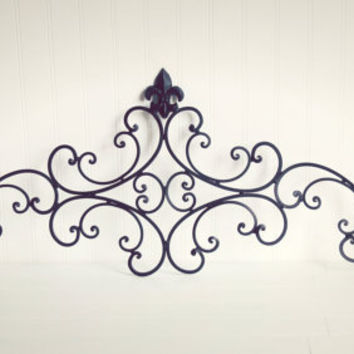 Metal Wall Art / Headboard / Living Room Decor / Outdoor Metal Wall Art / Outdoor Decor / Fence Decor / Black Home Decor / Ornate Wall Decor