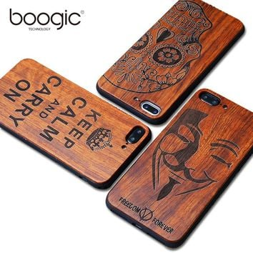 BOOGIC Wood Phone Case High Quality Shockproof for iphone