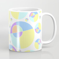 Bubble yellow & blue 08 Coffee Mug by Zia