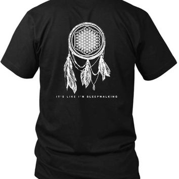 Bring Me The Horizon Dream Catcher 2 Sided Black Mens T Shirt