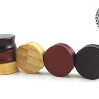 Wood Plugs, Bundle pack, SAVE 20%, Ear plugs, plugs and tunnels, ear gauges, 0g, 00g, BIG size, wooden plugs, ear tunnel, PS Plugs, x3 Pairs