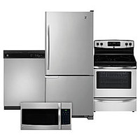 Kenmore 4 Piece Kitchen Package - Stainless Steel - Good