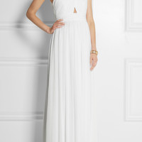 Alice + Olivia - Jaelyn cutout chiffon maxi dress