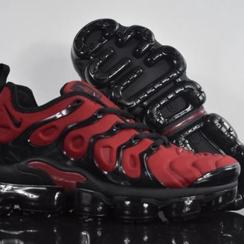 2018 nike air max plus tn vm red black vapormax vapor max men fashion running sneakers sport shoes