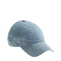 J.Crew Womens Chambray Baseball Cap