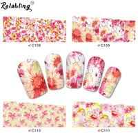 Rolabling Beauty Bloom Flower full cover nail sticker water transfer nail sticker for nail flower water transfer
