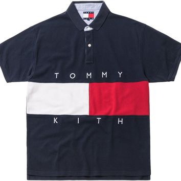 Kith x Tommy Hilfiger Flag S/S Polo Navy