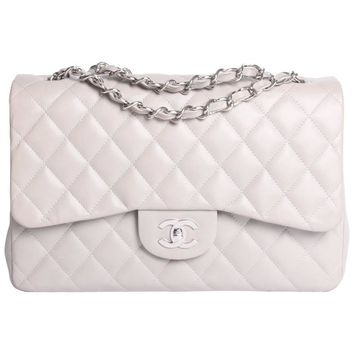 Chanel Timeless 2.55 Jumbo Flap Bag - gray-Crossbody