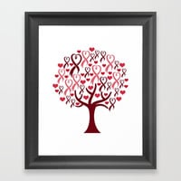 Blossoming Awareness Ribbon Heart Tree Framed Art Print by ThisOnAShirt