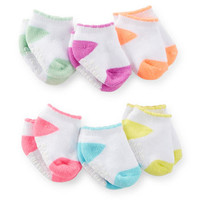 6-Pack Scalloped Socks