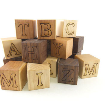 7 Personalized Wood Name Blocks - Alphabet Building Blocks, perfect for play and nursery decor
