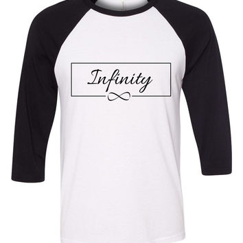 "One Direction ""Infinity"" Box Baseball Tee"