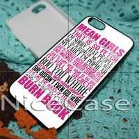 Pink Mean Girl Quote for iPhone 4 / 4S / 5 / 5c / 5s Case Samsung Galaxy S3 / S4 Case Cover