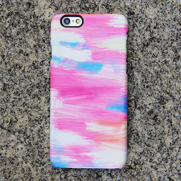 Pink and Blue Panting Phone 6 iPhone 6 plus Case Watercolor iPhone 5S 5 iPhone 5C iPhone 4S/4 Case Samsung Galaxy S6 edge S6 S5 S4 Case 055
