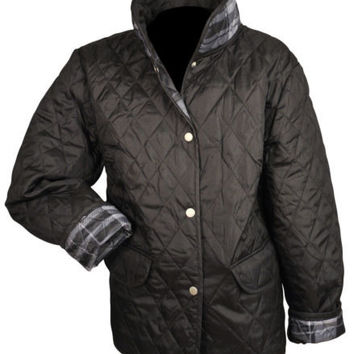 Jane Ashley Lightweight Quilted Barn Jacket with Front Pockets